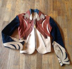Rare East West Musical Instruments Leather Jacket Parrot Design Small Excellent!