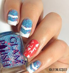 Life in Lacquer: Life in Lacquer Nail Art Challenge: GEOMETRIC