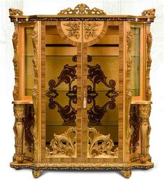 11 Luxury furniture. Exquisite Empire style dining cabinet.  Please call Bernadette Livingston Furniture for more information: 877-732-2586
