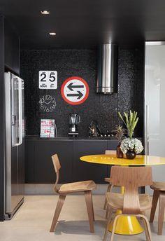 Black kitchen?  Maybe...