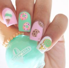 cute acrylic nails for kids * nails kids cute ` nails kids cute easy ` cute nails for kids ` kids nail designs cute ` nails for kids cute short ` kids nails cute simple ` cute unicorn nails for kids ` cute acrylic nails for kids Neon Nails, Cute Acrylic Nails, Diy Nails, Cute Nails, Rainbow Nails, Spring Nail Art, Spring Nails, Summer Nails, Fall Nails