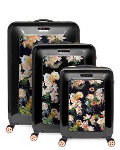 Opulent bloom cabin suitcase - Black | Bags | Ted Baker UK