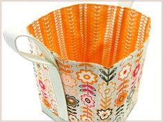 Tall Fabric Box-Baskets | Sew4Home