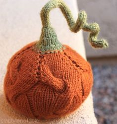 Free Knit Pumpkin Pattern | SimplyNotable.com