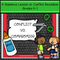 Guidance lesson on Conflict vs. Compromise for Grades K-1. NEVER create another guidance lesson again with our aligned ASCA K-6 guidance lessons! We've got more GUIDANCE LESSON Plans, all which are aligned for grades K-6! Each lesson plan has a Word doc for each grade level and a PDF that includes all activities and printables. #Conflict #Resolution | Elementary Guidance Lessons | School Counselor #Social #Interactions #elementary #guidance #lessons #K-6