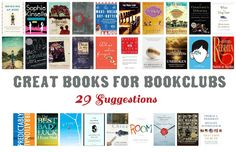29 Book Club Recommendations - great books even if you don't belong to a bookclub.