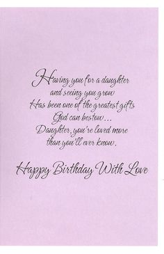 Best 25 Birthday Wishes Daughter Ideas On Pinterest 25th