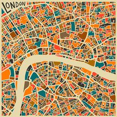 Perfect wall art for the office | Modern Abstract City Maps - Design Crush