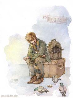 Newt Scamander. Expelled. by Jenny Dolfen Illustration