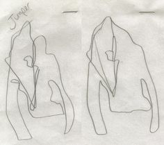 blind-folded sketches by hussein chalayan for his spring summer 2005 collectionblindscape