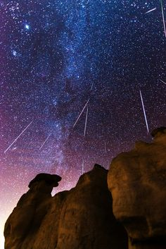 Geminid Meteor Shower at the Paint Mines in Calhan, Colorado