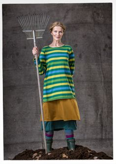 Knitted cotton tunic with stripes – New arrivals! – GUDRUN SJÖDÉN – Webshop, mail order and boutiques   Colourful clothes and home textiles ...