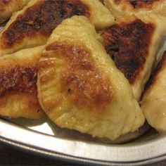 """Pierogi (Polish Dumplings) I """"This was the BEST recipe I have found for Pierogi! I LOVED the addition of the sour cream in the dough!"""""""