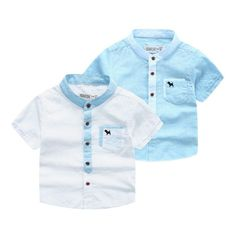 58.00$  Buy here - http://alin2m.shopchina.info/go.php?t=32740436229 - 2016 new spring autumn Girls Kids Boys  dog pocket cotton Short-sleeved shirt  comfortable cute baby Clothes Children Clothing 58.00$ #aliexpresschina