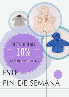 10% de descuento en Abrigos y Cazadoras para niños ¡Solo este fin de semana! www.quiquilo.es