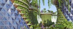 The organic, curvilinear designs of an Avatar universe may be closer than we think. Indian agroecologist Amlankusum and Paris-based Vincent Callebaut Architectures have released plans for a vertical 'eco-neighborhood' called the Jaypee Green Sports...
