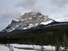 Castle Mountain, Banff National Park, Alberta, Canada.