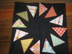 Black flying geese table center piece or by RachaelsCrazyScraps