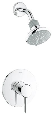 PF-07: Grohe Concetto Pressure Balance Valve Shower Combination. Concetto offers matching accessories (towel bars, etc.)