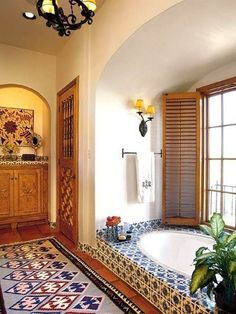 Mexico Interior Bathroom : Mexico Interior Decorating Ideas – Better Home and Garden.  We offer the largest Talavera tile selection online! http://www.lafuente.com/Tile/Talavera-Tile/