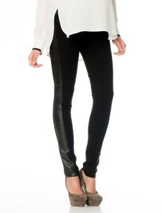 A Pea in the Pod Maternity SOLD Design Lab Secret Fit Belly(r) Faux Leather Slim Fit Skinny Leg Maternity Pants #leather