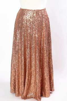Plus Size Clothing for Women - Showstopper Sequin Maxi Skirt - Rose Gold - Society+ - Society Plus - Buy Online Now! - 2