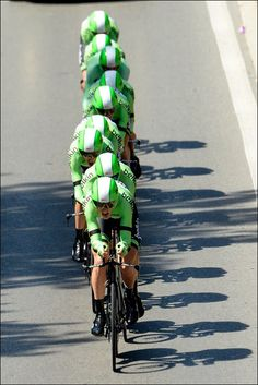 Team Belkin at the 4 stage of the 2013 Tour de France, the TTT in Nice