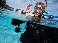 All smiles out at the pool during the Instructor course at Abyss Scuba Diving... Perfect day! Well done everyone.