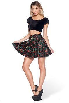 Wild Cherry Pocket Skater Skirt - LIMITED – Black Milk Clothing