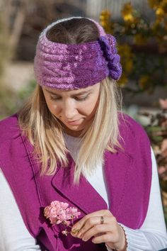 Knitted Headband, Soft Headband, Multicolor Headband, Crochet Headband, Ear Warmer, Spring Headband for Women, Gift for Her