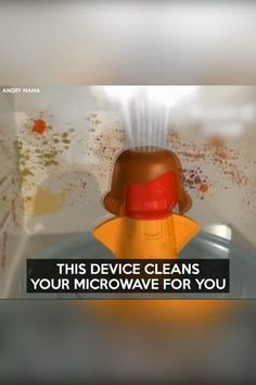 microwave cleaner angry mama Angry Mama Microwave CleanerYou can find Cooking gadgets and more on our website Cool Kitchen Gadgets, Home Gadgets, Cooking Gadgets, Gadgets And Gizmos, Cool Kitchens, Gadgets Online, Cooking Tools, Cooking Classes, Diy Home Cleaning