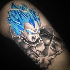 Vegeta tattoo by Chris Showstoppr