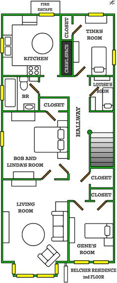 bob's burgers apartment - Google Search