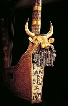 Bull-head Lyre, c. 2,600 BCE from the Royal Cemetary, Ur