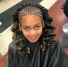 Good braided hairstyles for kids should be child-friendly, protective and comfortable. We have here 43 photos of kids with beautiful braided hairstyles. Little Girl Braids, Black Girl Braids, Braids For Kids, Braids For Black Hair, Girls Braids, Wavy Hair, Kid Braids, Braid Styles For Kids, Kid Styles