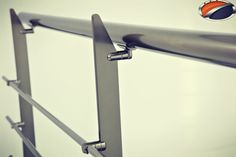 Akos 400 Series Aluminium Railing System Lama with 4 pipe holders and side connector by www.akossystem.com #aluminium #rallings