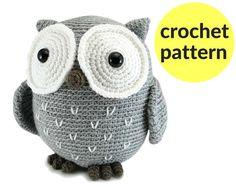 Large owl amigurumi pattern crochet owl pattern large