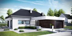 Find home projects from professionals for ideas & inspiration. Projekt domu HomeKONCEPT 32 by HomeKONCEPT Modern Small House Design, Contemporary House Plans, Modern House Plans, My House Plans, Bedroom House Plans, Circle House, Container House Plans, Bungalow House Design, Loft House