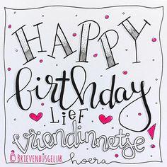 • Happy birthday lief vriendinnetje! • ©️ Hoera voor mijn lieve jarige vriendinnetje Carlijn! En wat kreeg ze vandaag een heeeerlijk…