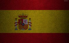 Download wallpapers Flag of Spain, 4k, leather texture, Spanish flag, Europe, flags of Europe, Spain