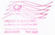 Nemecká pošta, tlačové zásielky