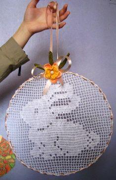 Filet Crochet, Crochet Mat, Crochet Doily Patterns, Easter Crochet, Crochet Designs, Crochet Crafts, Crochet Doilies, Crochet Toys, Crochet Projects