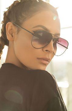 x Desi Perkins 'High Key' 62mm Aviator Sunglasses
