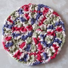 Round Clustered Hot Pad or Coaster