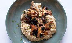 Nigel Slater's sautéed mushrooms and butter bean mash recipe on a plate
