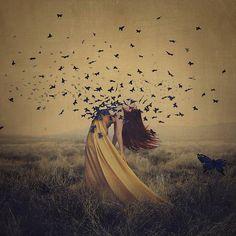 """The sound of flying souls 2"" by Brooke Shaden #seflportrait"