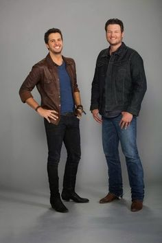 Luke Bryan and Blake Shelton my two fav country singers on the planet, besides George Strait of course