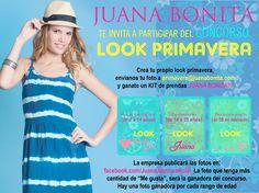MANDA TU FOTO CON LOOK PRIMAVERAL A PRIMAVERA@JUANABONITA.COM Y PARTICIPA.