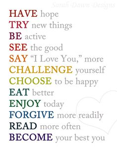 Free New Year Resolutions Printables by Sarah Dawn Designs.  Click on the link below to print them.
