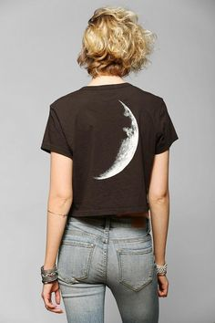 Truly Madly Deeply Moon & Stars Cropped Tee